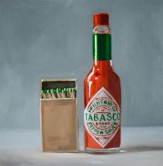 "Daily Paintworks - ""Fiery Tabasco Sauce"" by Lauren Pretorius"