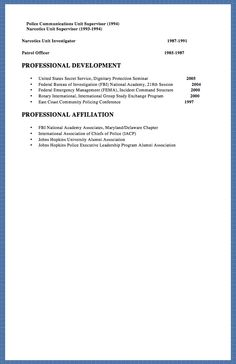 Sample Police Officer Resume  HttpExampleresumecvOrgSample