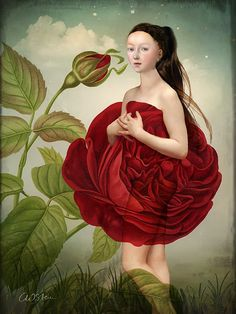 ⊰ Posing with Posies ⊱ paintings of women and flowers - Catrin Welz-Stein - Pure Nature