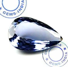 NATURAL 1.00 Ct PEAR TANZANITE Violet Blue~Certified Untreated For Diamond Ring #GEMSINDIAEBAYTOPRATEDSELLER