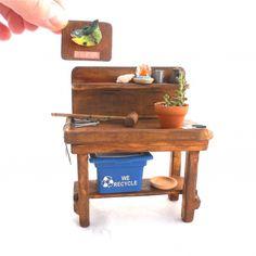 Miniature Garden Potting Bench
