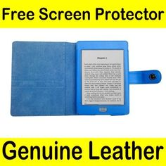 """Mochie (tm) Genuine Leather Pouch Case Cover Jacket for Amazon Kindle Touch Blue by JMGlobal. $10.99. Brand New  For Amazon Kindle Touch e-reader released on November 2011 (Kindle Touch size is  6.8"""" x 4.7"""" x 0.40"""". This will not work with other e-readers (Kindle 4, Kindle Keyboard, etc)) Genuine Leather Case + Free Screen Protector (for limited time only) Give the Mochie brand a try to protect your device with a fashionable look!!  Being affordable and reliable, this might be..."""