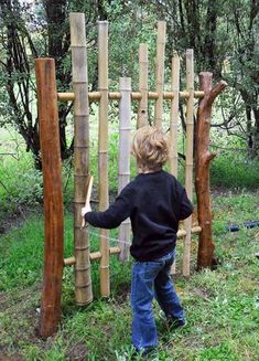 Bamboo chime tower – fun musical addition to a kids' play area in the garden @ its-a-green-life