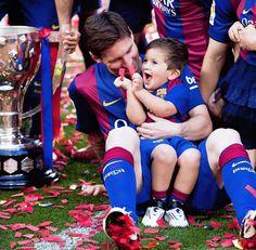 Messi y Thiago #barça