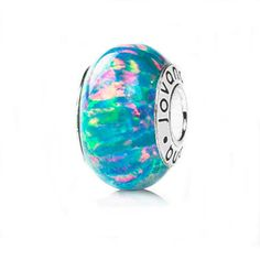 Blue lab Opal charm bead on sterling silver by ybcaudle on Etsy, $23.50