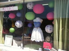 Summer window display The Twirl Girl.  It's simple but effective