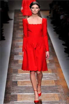 This bright red color gets me every time.  Valentino