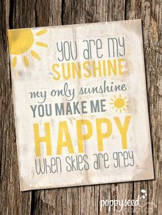 """You Are My Sunshine Distressed Wooden Sign 18"""" x 22"""" by PoppyseedDesignCo on Etsy https://www.etsy.com/listing/221740778/you-are-my-sunshine-distressed-wooden"""