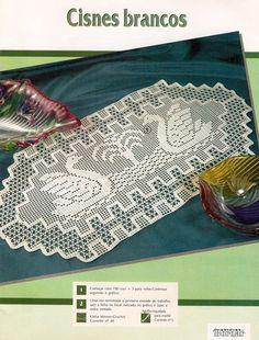 Home Decor Crochet Patterns Part 145 - Beautiful Crochet Patterns and Knitting Patterns Crochet Birds, Thread Crochet, Filet Crochet, Crochet Carpet, Crochet Home, Crochet Bedspread, Crochet Doilies, Cross Stitching, Cross Stitch Embroidery