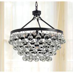 Antique Bronze 5-light Crystal Drop Chandelier - Overstock™ Shopping - Great Deals on Otis Designs Chandeliers & Pendants