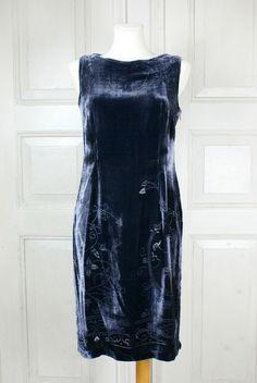 Noa Noa,Kleid,Samtkleid,edel,elegant,Ausbrenneroptik,RARITÄT in Kleidung & Accessoires, Damenmode, Kleider   eBay