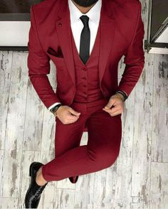 Piece on Beautyday& Store DHgate com is part of Prom suit outfits piecebuy wholesale burgundy groom tuxedos wedding suits groomsmen best man for young man prom suits jacket+pants+bow tie custom - Prom Suit Outfits, Blazer Outfits Men, Men Blazer, Casual Outfits, Tuxedo Wedding Suit, Wedding Suits, Wedding Tuxedos, Mens Fashion Suits, Mens Suits