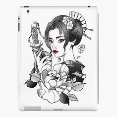 Asian Tattoo Girl, Japanese Girl Tattoo, Asian Tattoos, Japanese Tattoo Designs, Viking Tattoo Sleeve, Skull Sleeve Tattoos, Samurai Tattoo, Geisha Tattoo Design, Family Tattoo Designs