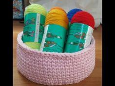 Corbeille crochet - YouTube Crochet Video, Diy Crochet, Crochet Basket Pattern, Crochet Baskets, Crab Stitch, Lucet, Knitting, Points, Channel