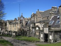 Greyfriars Cemetary in Edinburgh ... it really was a spooky place, even in broad daylight.