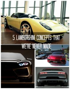 5 Lamborghini Concepts That We're Never Made - ahhhh what were Lamborghini thinking!