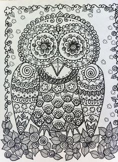 Sugar skull style owl?