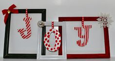 Life With 4 Boys: DIY Picture Frame Christmas Decorations