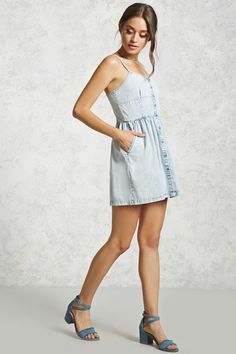 Button-Down Chambray Dress | Forever 21 - 2000105979
