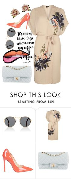 """""""orange pink blue 💙💟"""" by faanciella ❤ liked on Polyvore featuring Prada, Dorothy Perkins, Chanel and Les Néréides"""