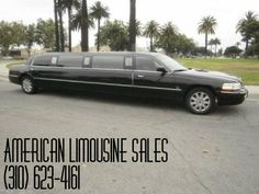 2003 LINCOLN Town Car Black 120-inch 10 Pass. Limousine #1087 - $19995   Visit us at: Americanlimousinesales.com