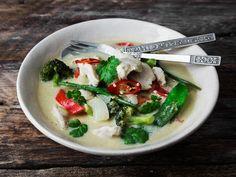 Kylling og grønnsaker i grønn thai-karri