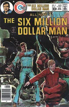 The Six Million Dollar Man (1974-78, ABC) starring Lee Majors as former astronaut 'Steve Austin' — 1976 comic book