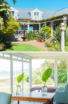 A wonderful, peaceful getaway awaits at the Blue Bay Lodge & Resort in the West Coast town, Saldanha. Bay Lodge, Beach Holiday, West Coast, Coastal, Pergola, Ocean, Outdoor Structures, Whimsical, Plants