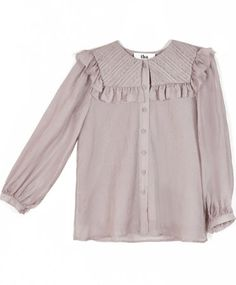 To Be Adored Lilac Silk April Top
