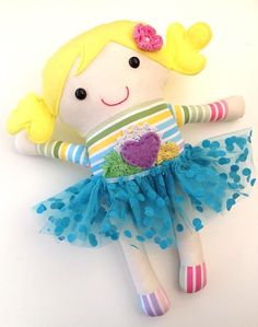 Handmade Ballerina Softie Doll with Tutu - by rubymarshalldesigns on madeit