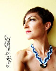 collana macrame handmade con ematite e chiusura in argento Martha Mollichella…