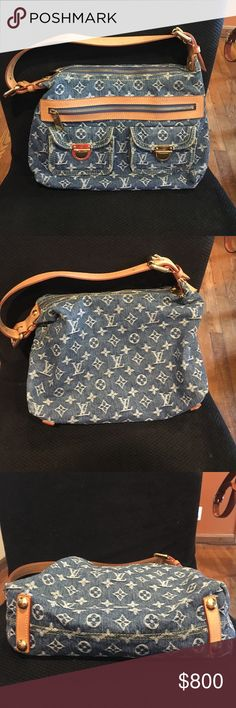 Louis Vuitton Baggy Denim PM In blue AND WALLET This classic Louis Vuitton is made of Jean and brass and never goes out of style! Comes with the matching wallet and are both 100% authentic. Price includes wallet!! Louis Vuitton Bags Shoulder Bags
