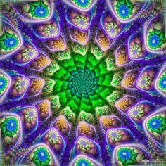 Forever in Motion Mandala by James Alan Smith #mandala #digitalart #art