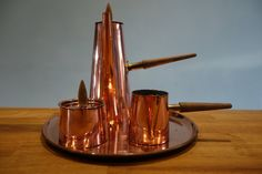 Retro Vintage Mid Century Copper Argv Hot Chocolate Set Ornament