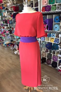 Dress making and design consultation service for mother of the bride and groom at Roisin Cross Silks, Dublin call us on 1 2846282 Crepe Dress, Silk Crepe, Groom Dress, Design Consultant, Dressmaking, Mother Of The Bride, Lady, Skirts, Outfits