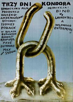 THREE DAYS OF THE CONDOR de Sydney Pollack (1975) #polonaise #polish #poster #affiche #pologne #poland #pollack #film #american #americain