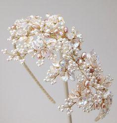 Gillian Million ~ Wisteria Pearl Headband - jewelry, bracelets, resin, delicate, fashion, steampunk jewellery *ad