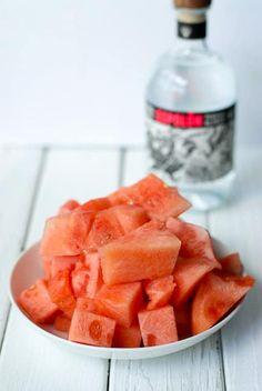 Watermelon pieces for Watermelon Infused Tequila - BoulderLocavore.com