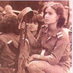 1967 Palestinian female fighter defends Nablus against Zionists invaders