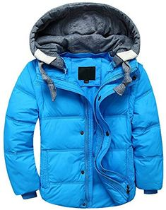 Pivaconis Boy and Girl Quilted Hooded Ultra Light Down Jacket and Pants Outfits