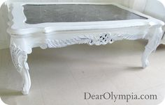 Marble Shabby Chic Coffee Table *For Sale in Oahu* coffee table | marble | antique| refinished furniture| shabby chic | furniture | restoration | marble | distressed | dark wax