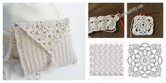 This Crochet Handbag is very elegant and beautiful. The graphics make it look very special. It is ideal to take to a party.