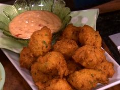 Jalapeno Hushpuppies - use jalepenos and creamed corn. Recipe courtesy Trisha Yearwood (Home Cooking with Trisha Yearwood, pg.152)