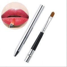 Professional Make Up Tool Portable Retractable Cosmetic Lipstick Gloss Lip Brush