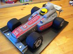 Formula 1 Mcclaren - Wicked Chocolate Fudge cake Lewis Hamilton Mcclaren Formula 1.