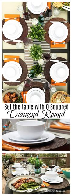 Set the table with Q Squared Diamond Round
