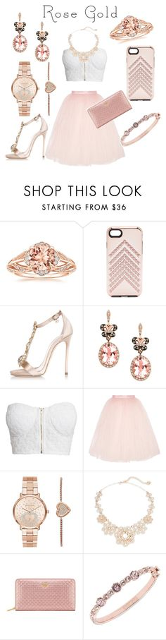 """""""Rose gold"""" by eirinimaria ❤ liked on Polyvore featuring Rebecca Minkoff, Dsquared2, Effy Jewelry, NLY Trend, Ballet Beautiful, Michael Kors, Kate Spade, Tory Burch and Givenchy"""