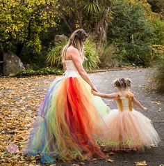 My lovely photographer friend Mandy and I have teamed up to bring you some truly stunning mother daughter images. The first shoot we wanted to do was Autumn but with a twist. Summer Photography, Photography Ideas, Mother Daughter Photography, Creative Photoshoot Ideas, Mommy And Me Dresses, Rainbow Tutu, Tulle, Gowns, Autumn