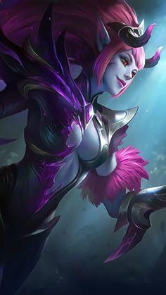 ML Wallpaper - Selena Abyssal Witch Heroes Assassin Mage of Skins Dark Wallpaper Iphone, Hero Wallpaper, Fantasy Warrior, Fantasy Art, Mobiles, Manga Japan, Alucard Mobile Legends, Moba Legends, Selena Pictures