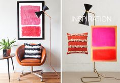 Creating with the Stars   the Knock Off round   The Makerista   Anthropologie inspired lamp + pillow